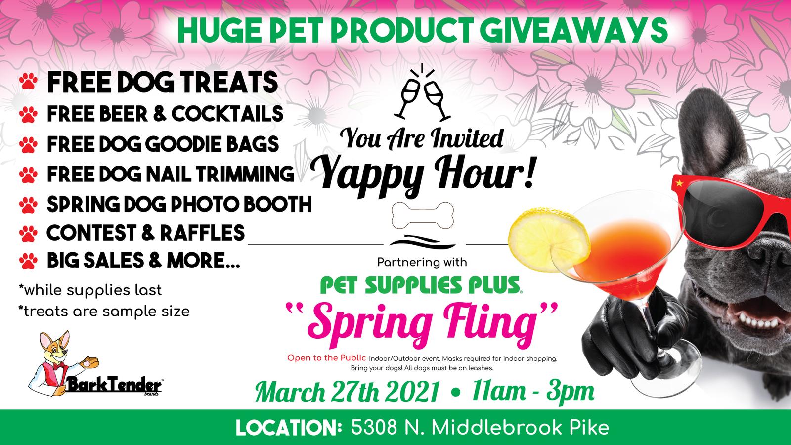 Knoxville TN Spring Fling Dog Event header graphic