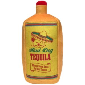 tequila dog squeaky plush dog treat product image small size
